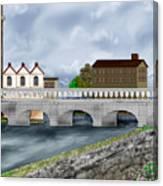 Bridge In Old Galway Ireland Canvas Print