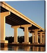 Bridge Pilings Canvas Print