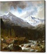 Bringing The Cattle Down From The Alm Canvas Print