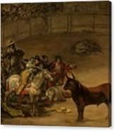 Bullfight - Suerte De Varas Canvas Print