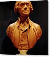 Bust Of Thomas Jefferson  Canvas Print