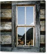 Cabin Window Canvas Print