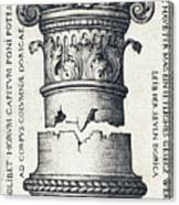 Capital And Base Of A Column Canvas Print