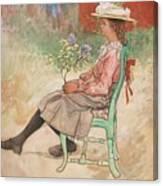 Carl Larsson, Dagmar Grill Canvas Print