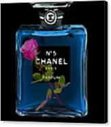 Chanel With Rose Canvas Print