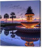 Charleston Pineapple Fountain Canvas Print