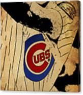 Chicago Cubs Baseball Team Vintage Card Canvas Print
