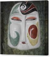 Chinese Porcelain Mask Grunge Canvas Print