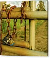 Padlocks And Chains Canvas Print