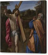 Christ Appearing To Saint Peter On The Appian Way Canvas Print