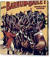 Circus Poster, 1920s Canvas Print