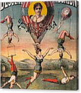 Circus Poster, C1890 Canvas Print