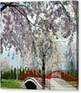 City Lake Park Canvas Print