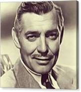 Clark Gable, Vintage Actor Canvas Print