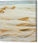 Close-up Of Beautiful Sunlit Ripple Surface Of Sand In Desert  Canvas Print