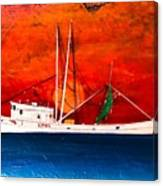 Clyde Phillips At Sea  Canvas Print