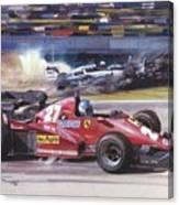 Cma 081 1983 San Marino Gp Imola Patrick Tambay In Ferrari Roy Rob Canvas Print