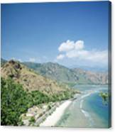 Coast And Beach View Near Dili In East Timor Leste Canvas Print