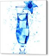 Cocktail Drinks Glass Watercolor Canvas Print