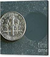 Coin Containing Silver Inhibits Canvas Print