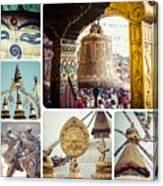 Collage Of Kathmandu  Canvas Print