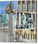 Collage Of Vienna Canvas Print