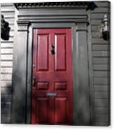 Colonial Red Door Newport Rhode Island Canvas Print