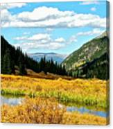 Colorado Mountain Lake In Fall Canvas Print