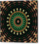 Colorful Kaleidoscope Incorporating Aspects Of Asian Architectur Canvas Print