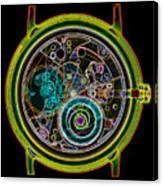Coloured X-ray Of A 17-jewel Wrist-watch Canvas Print