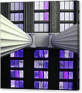 2 Column Stain Purple Canvas Print