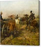 Cossacks Returning Home On Horseback Canvas Print