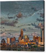 Cotton Candy Sky Over Charlotte North Carolina Downtown Skyline Canvas Print