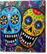 Couple Day Of The Dead Canvas Print