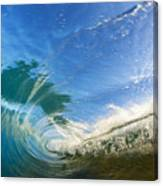 Crashing Wave Tube Canvas Print