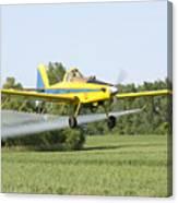 Crop Dusting Plane Canvas Print