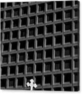 Cross And Building Canvas Print