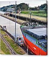 Crossing Panama Canal Canvas Print