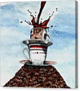 2 Cups Coffee Canvas Print