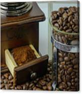Daily Grind Coffee Beans Canvas Print