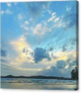 Dawn Seascape With Cloudy Sky Canvas Print