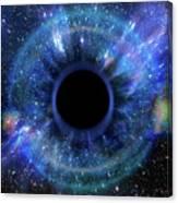Deep Black Hole, Like An Eye In The Sky Canvas Print