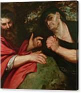 Democritus And Heraclitus Canvas Print