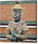 Detail From A Buddhist Temple In Bangkok Thailand Canvas Print