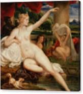 Diana At The Bath Canvas Print