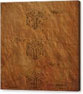 Dice Patent From 1923 Canvas Print