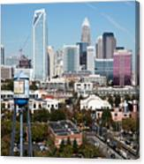 Downtown Charlotte North Carolina From The South End Canvas Print