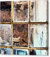 Blue Window Panes  Canvas Print