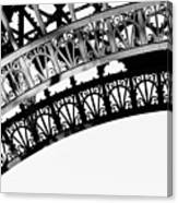 Eiffel Tower Detail Canvas Print