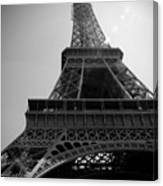 Eiffel Tower Under The Spotlight Canvas Print